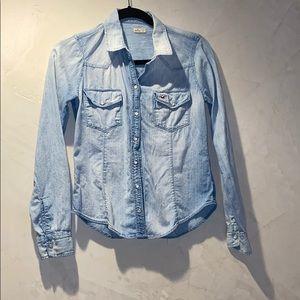 Cute Hollister jean shirt